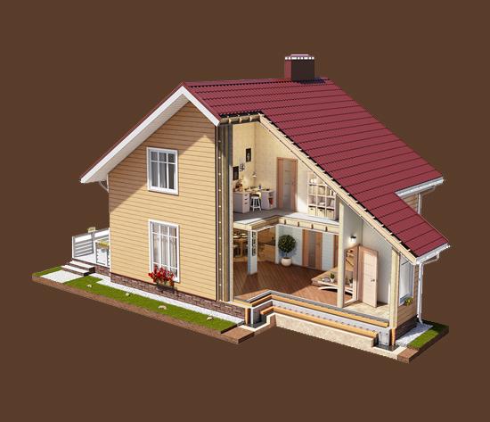 Каркасные дома ДСК